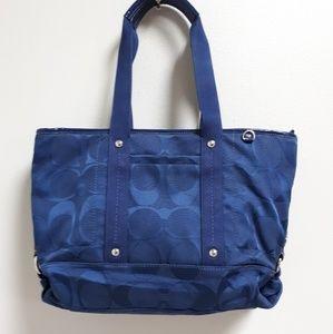 Coach navy blue purse.